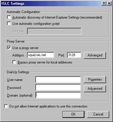 ISLC Proxy Server Instructions